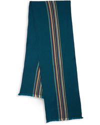 Missoni Striped Wool Scarf - Purple