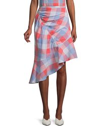 Parker Women's Astrid Check Skirt - Plaid - Size 4 - Red