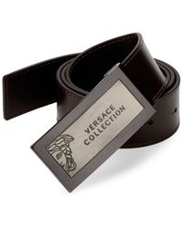Versace Hardware Leather Belt - Brown