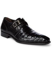 Mezlan - Crocodile Slip-on Buckle Shoes - Lyst