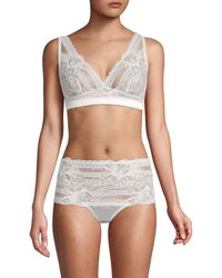 Mimi Holliday by Damaris Floral Triangle Bra - White