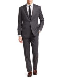 Ralph Lauren Purple Label Classic-fit Herringbone Stripe Suit - Gray