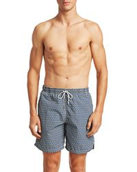 Saks Fifth Avenue Collection Giraffe Swim Trunks - Blue