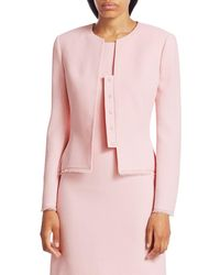 Akris Punto Women's Garry Wool Crêpe Double Face Jacket - Blush - Size 4 - Pink