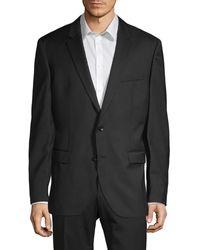 BOSS Tailored-fit Virgin Wool Sport Jacket - Black