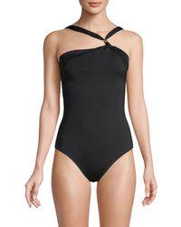 Mouillé Swimwear Asymmetrical 1-piece Swimsuit - Black