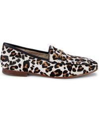 Sam Edelman Loraine Leopard Calf Hair Loafers - Multicolour