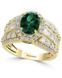 Effy 14k Yellow Gold, Emerald & Diamond Ring - Metallic