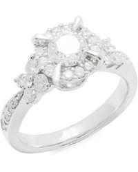 Saks Fifth Avenue - Diamond & 14k White Gold Ring - Lyst
