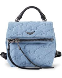 Zadig & Voltaire Romy Quilted Denim Backpack - Blue