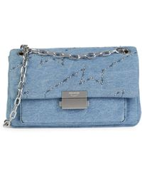Zadig & Voltaire Ziggy Chain-strap Denim Bag - Blue