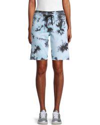 Calvin Klein Tie-dye Bermuda Shorts - Blue