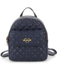 Love Moschino - Quilted Logo Backpack - Lyst