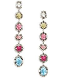 DANNIJO Women's Joya Silverplated Linear Drop Earrings - Multicolour
