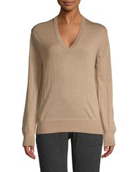 Tomas Maier V-neck Wool Sweater - Natural
