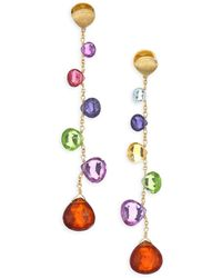 Marco Bicego Paradise Drop Earrings With Mixed Gemstones - Multicolor
