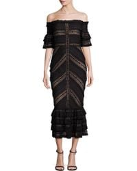 Bailey 44 - Naya Off-the-shoulder Lace Dress - Lyst