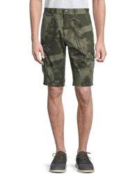 Buffalo David Bitton Hilife Botanical-print Cargo Shorts - Green