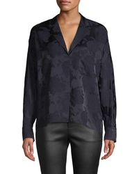 Vince Jacquard Pajama Shirt - Blue