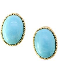 Effy Turquesa Turquoise And 14k Yellow Gold Earrings - Multicolour