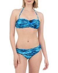 Nine West Animal-print Bandeau Bikini Top - Blue