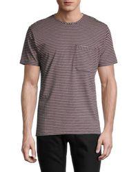 Paul Smith Men's Striped Organic Cotton T-shirt - Taupe - Size S - Multicolour