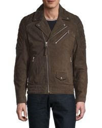 French Connection Suede Motorcycle Jacket - Multicolour