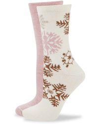Hue 2-pack Boot Socks - White