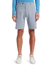 Saks Fifth Avenue Collection Gingham Seersucker Shorts - Blue