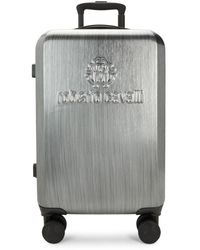 Roberto Cavalli 21.75-inch Expandable Spinner Suitcase - Grey