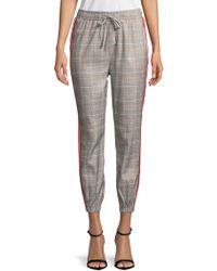 Lea & Viola - Plaid Drawstring Trousers - Lyst
