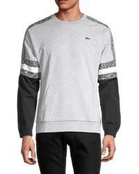 Lacoste Men's Colorblock Cotton-blend Sweatshirt - Grey - Size 3 (s)