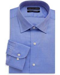 Saks Fifth Avenue Slim-fit Twill Dress Shirt - Blue