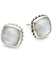 Lagos Venus Sterling Silver White Mother-of-pearl & Crystal Doublet Stud Earrings - Multicolour