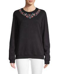 Hemant & Nandita Embellished Jewel Cotton Sweatshirt - Black