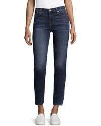 7 For All Mankind Gwenevere Washed Jeans - Blue