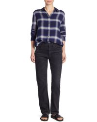 Vince - Cotton High Rise Union Slouched Released Hem Jeans - Lyst