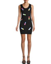 Moschino - Pill-print Virgin Wool Tank Dress - Lyst