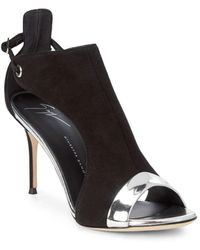 Giuseppe Zanotti - Open Sides Leather Sandals - Lyst