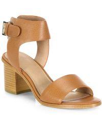 Joie - Bea Leather Mid-heel Sandals - Lyst