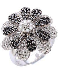 Effy - Diamond Studded 14k White Gold Ring - Lyst
