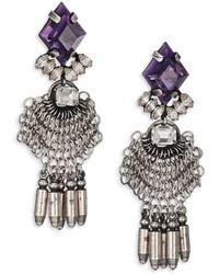 DANNIJO Women's Clea Crystal Drop Earrings - Metallic
