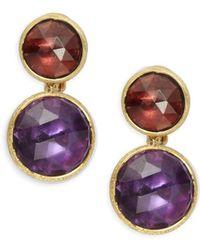 Marco Bicego - Jaipur Garnet, Amethyst & 18k Gold Earrings - Lyst