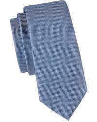 BOSS by HUGO BOSS Geometric-print Tie - Blue