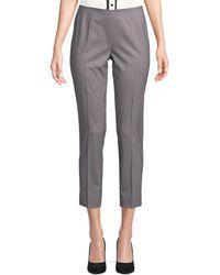 Lafayette 148 New York Stanton Wool Trousers - Grey