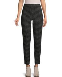 Donna Karan Printed Cropped Trousers - Black