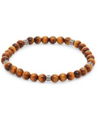 Effy Sterling Silver & Agate Bead Bracelet - Brown