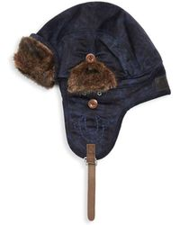 True Religion - Faux Fur-trimmed Aviator Hat - Lyst