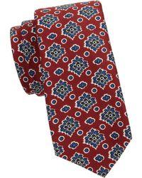 Kiton - Floral Wool & Silk-blend Tie - Lyst