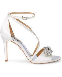 Badgley Mischka Vanessa Embellished Sandals - White